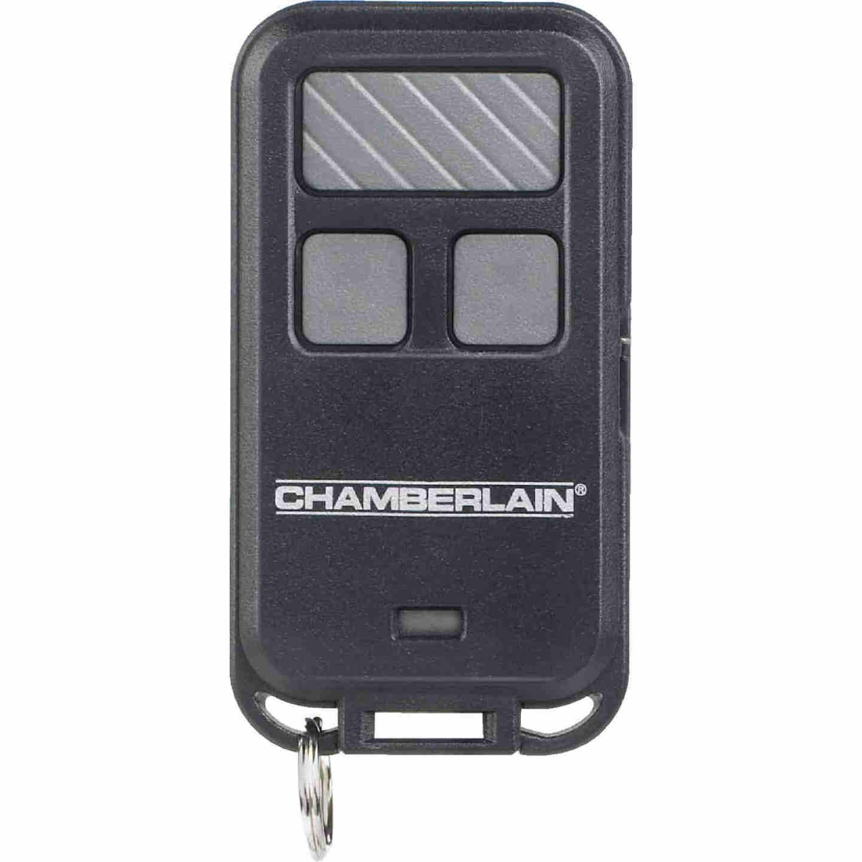 Chamberlain 3-Button Black Garage Door Remote Keychain Image 2