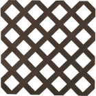 Dimensions 4 Ft. W x 8 Ft. L x 1/8 In. Thick Dark Brown Vinyl Lattice Panel Image 1