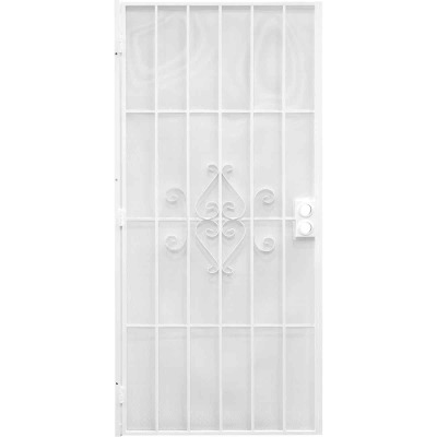 Precision Regal 30 In. W x 80 In. H White Steel Security Door