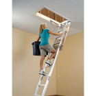 Werner Universal 8 Ft. to 10 Ft. 22-1/2 In. x 54 In. Aluminum Attic Stairs, 375 Lb. Load Image 3