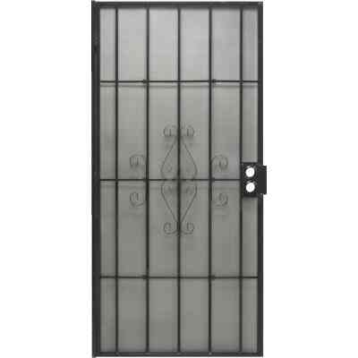 Precision Regal 36 In. W x 80 In. H Black Steel Security Door