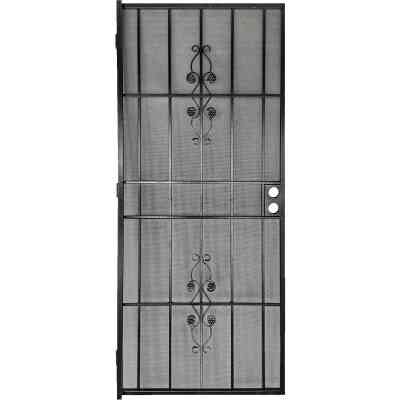 Precision Flagstaff 36 In. W x 80 In. H Black Steel Security Door
