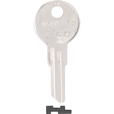 ILCO Illinois Nickel Plated File Cabinet Key, IL9 (10-Pack)