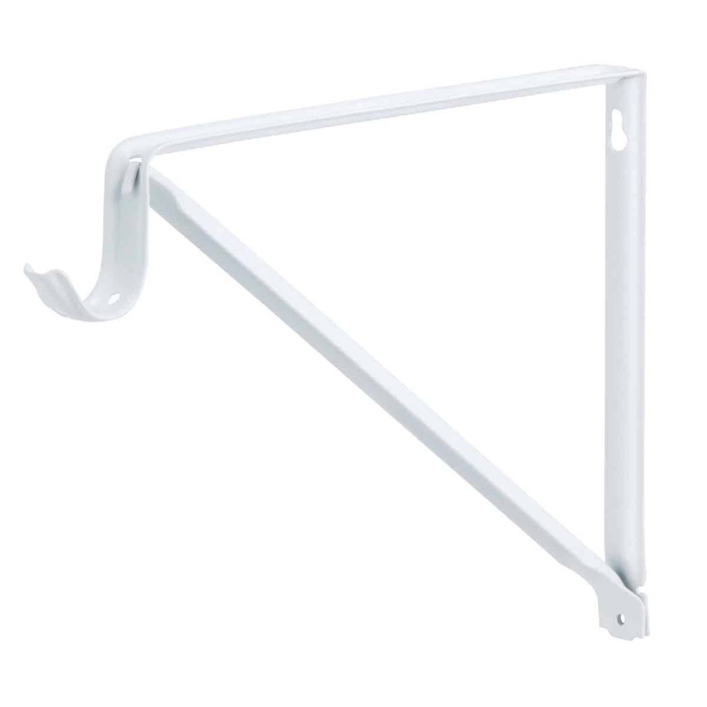 John Sterling Closet-Pro 10 In. H. x 11 In. D. Fixed Closet Shelf & Rod Bracket, White Image 1