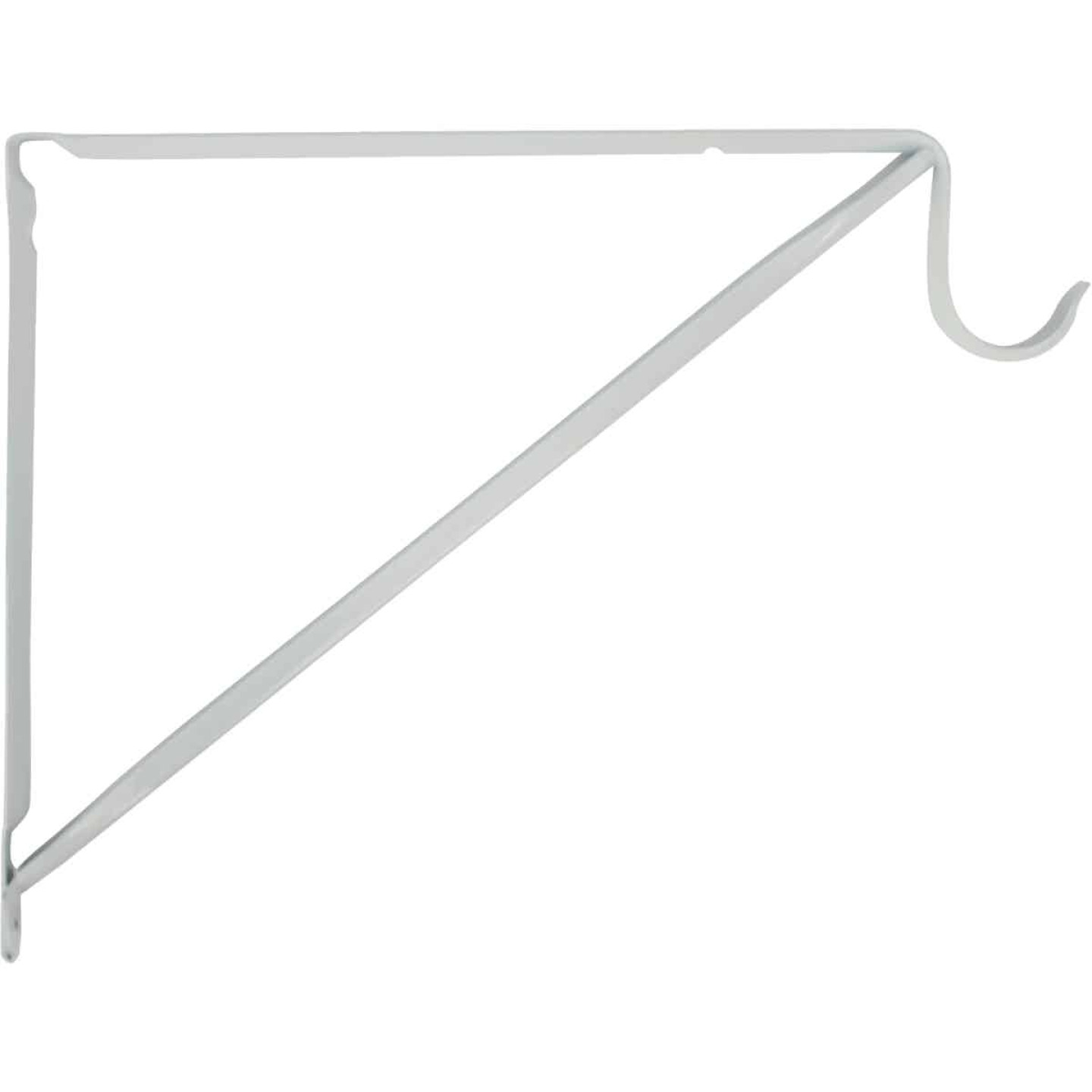 John Sterling Closet-Pro 10 In. H. x 11 In. D. Fixed Closet Shelf & Rod Bracket, White Image 2