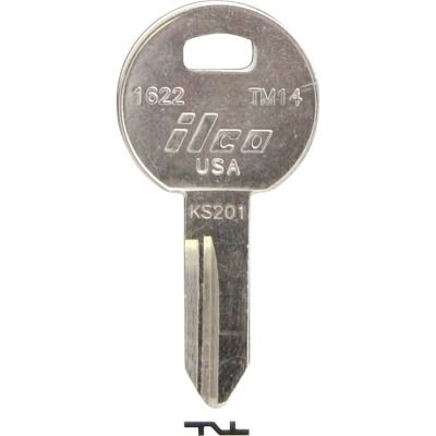 ILCO Trimark Nickel Plated Toolbox Key, TM14 (10-Pack)