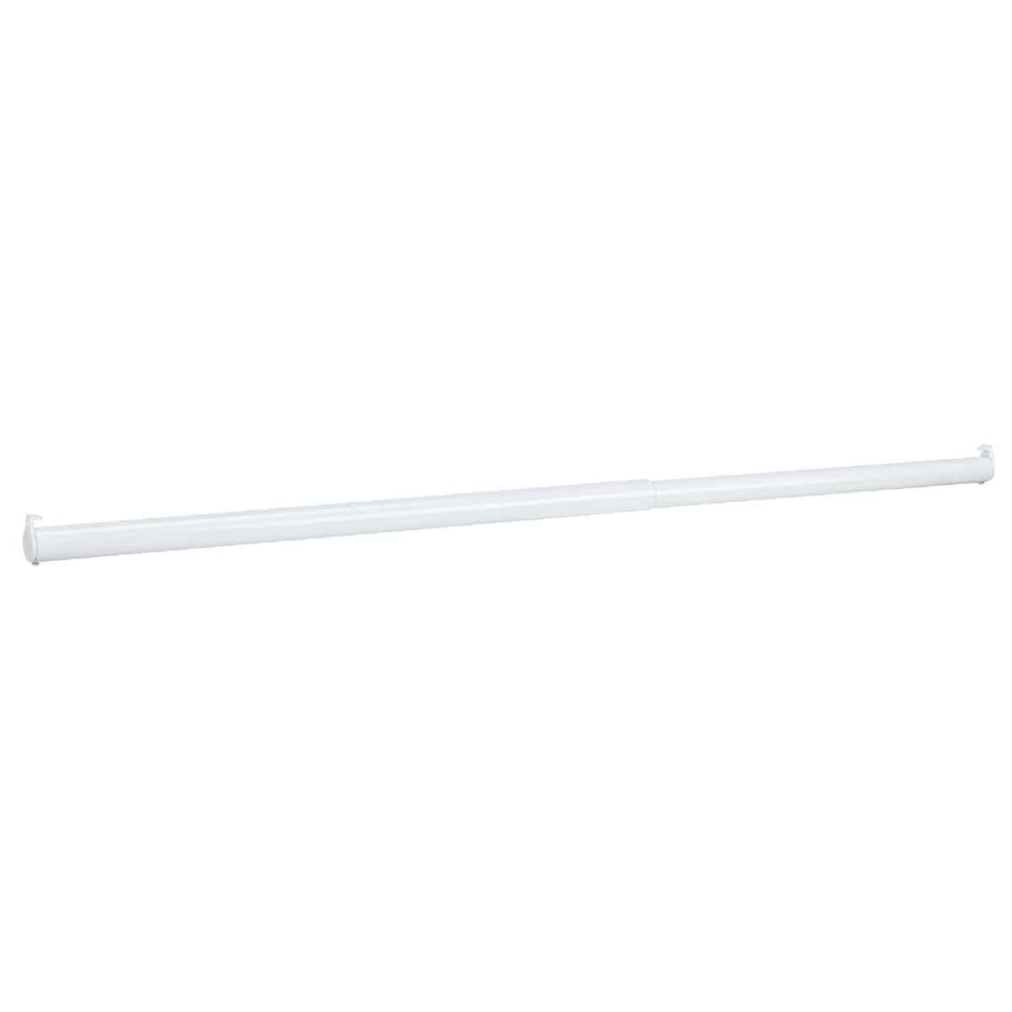 John Sterling Closet-Pro 30 In. to 48 In. x 1-1/4 In. Extra Heavy-Duty Adjustable Closet Rod, White Image 1