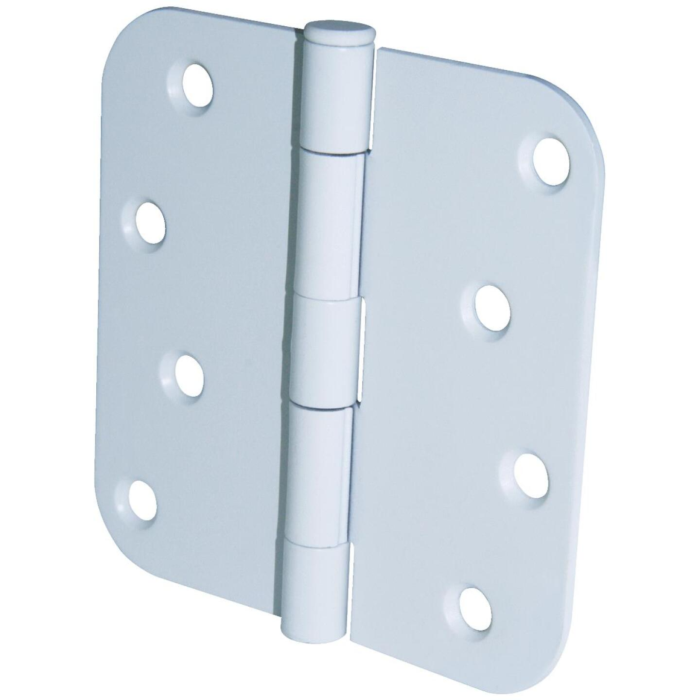 Ultra Hardware 4 In. x 5/8 In. Radius White Door Hinge (3-Pack) Image 1