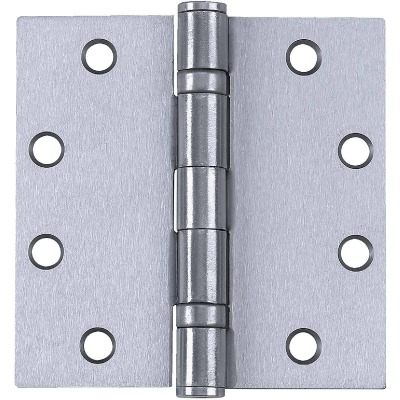 Tell Commercial Stainless Steel 4-1/2 In. Square Ball Bearing Hinge with Removable Pin