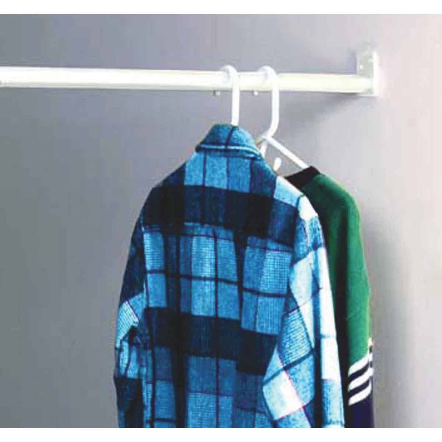 John Sterling Closet-Pro 72 In. to 120 In. x 1 In. Adjustable Closet Rod, White Image 1