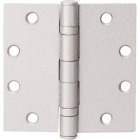 Tell Commercial 4-1/2 In. Square Satin Chrome Ball Bearing Door Hinge (3-Pack) Image 1