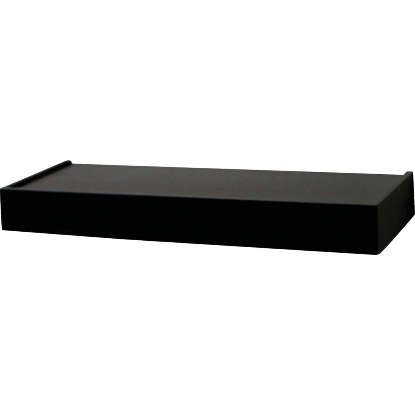 John Sterling Corp 24 In. Black Floating Decorative Shelf Image 1