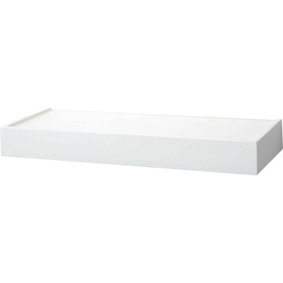 John Sterling Corp 24 In. White Floating Decorative Shelf