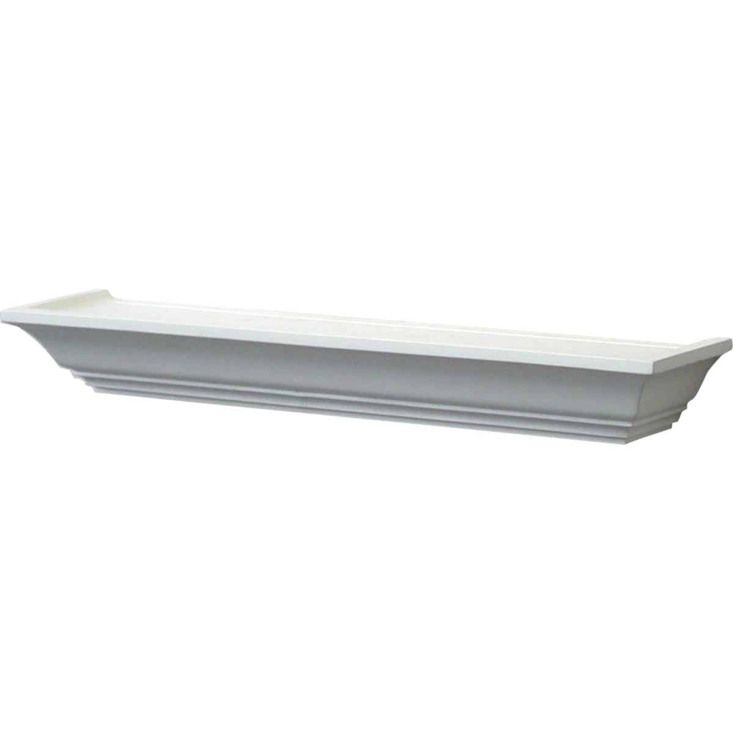 John Sterling Corp 24 In. White Mantel Decorative Shelf Image 1