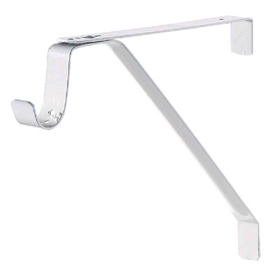 John Sterling Closet-Pro 12.40 In. H. x 12.40 In. D. Adjustable Closet Shelf & Rod Bracket, White
