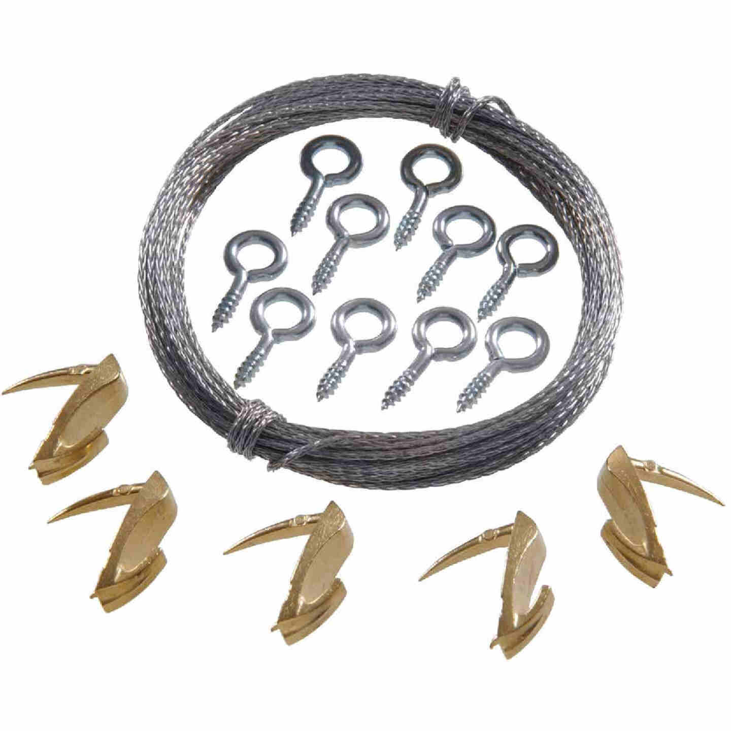 Hillman Anchor Wire 15 Lb. Capacity Wallbiter Picture Hanging Kit Image 1