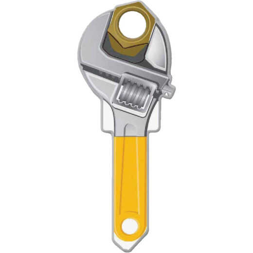 Lucky Line Wrench Design Decorative House Key, KW11