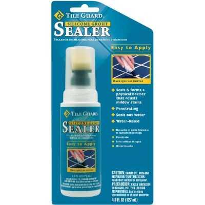 Tile Guard 4.3 Oz. Bottle Applicator Silicone Grout Sealer