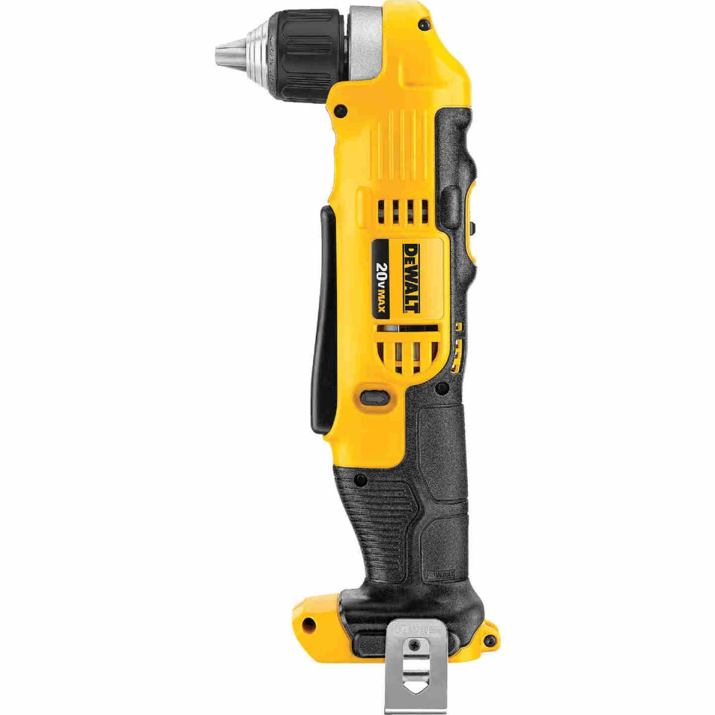 DeWalt 20 Volt MAX Lithium-Ion 3/8 In. Cordless Angle Drill (Bare Tool) Image 2