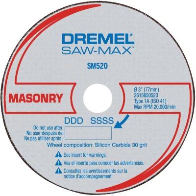 Dremel Saw-Max 3 In. Masonry Cut-Off Wheel (3-Pack)