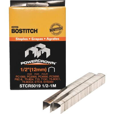 Bostitch Powercrown Hammer Tacker Staple, 1/2 In. (1000-Pack)