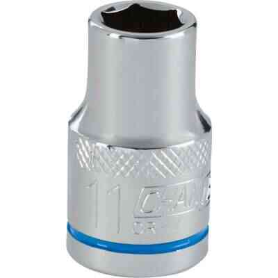 Channellock 1/2 In. Drive 11 mm 6-Point Shallow Metric Socket
