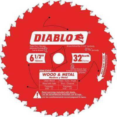 Diablo 6-1/2 In. 32-Tooth Wood & Metal Circular Saw Blade
