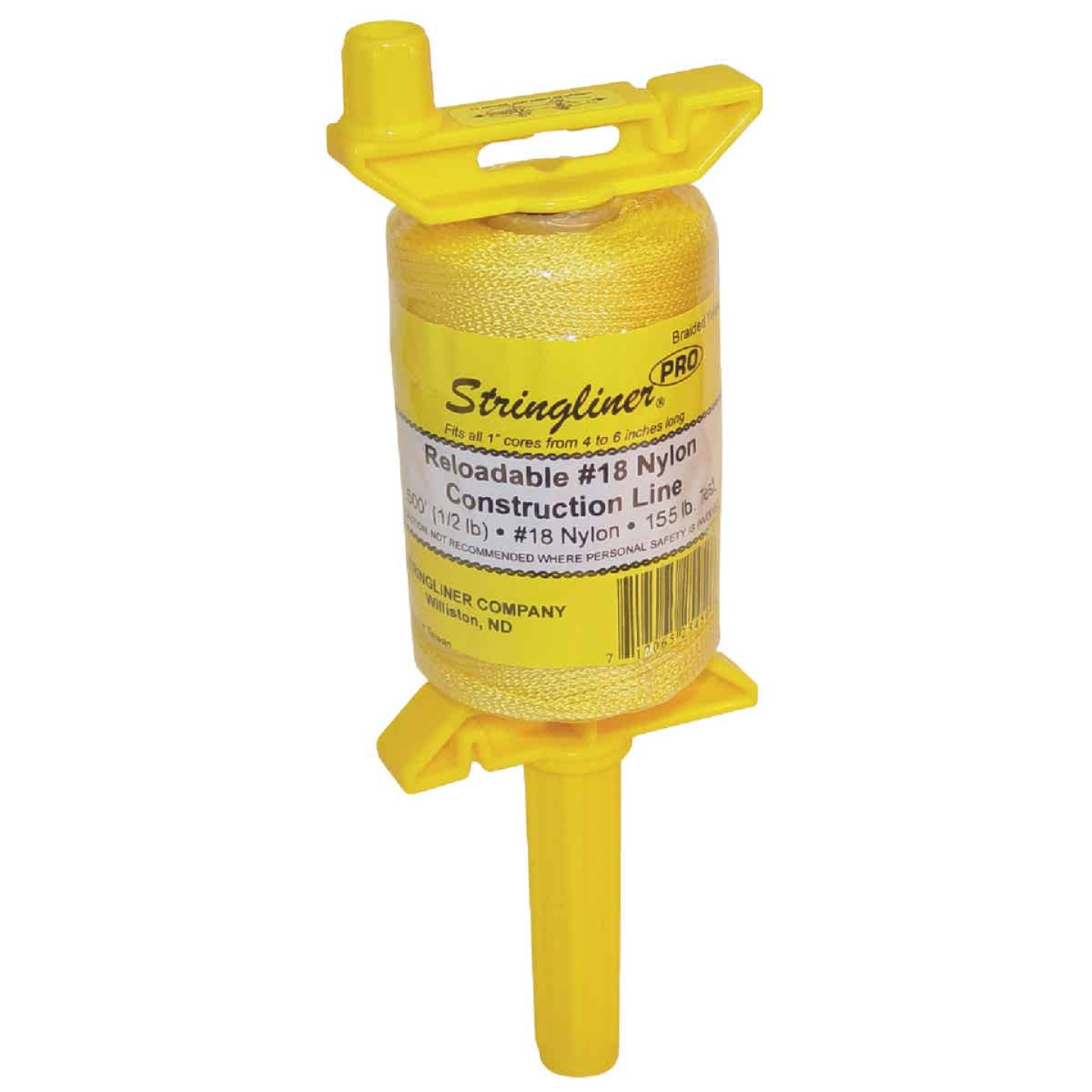 Stringliner PRO 500 Ft. Yellow Braided Nylon Mason Line Reel Image 1