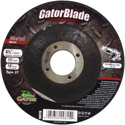Gator Blade Type 27 4-1/2 In. x 1/4 In. x 7/8 In. Metal Cut-Off Wheel