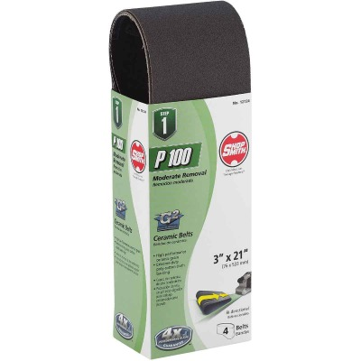 Gator Blade 3 In. x 21 In. 100 Grit Heavy-Duty Sanding Belt (4-Pack)