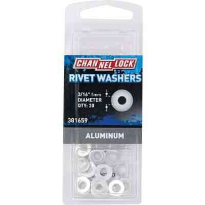 Channellock 3/16 in. Aluminum Rivet Washer (30-Pack)