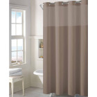 SureFit 71 In. x 74 In. Desert Taupe EZ-On Hookless Shower Curtain with PEVA Liner Image 1