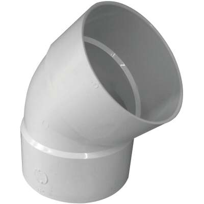 IPEX Canplas 6 In. SDR 35 45 Deg. PVC Sewer and Drain Elbow (1/8 Bend)