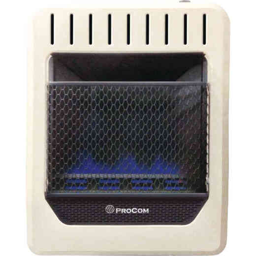 ProCom 10,000 BTU Natural Gas or Propane Gas Vent-Free Thermostat Control Blue Flame Wall Heater