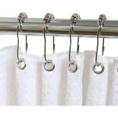 Zenith Chrome Roller Shower Curtain Hook (12 Count)