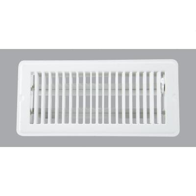 Home Impressions 4 In. x 10 In. White Steel Floor Register