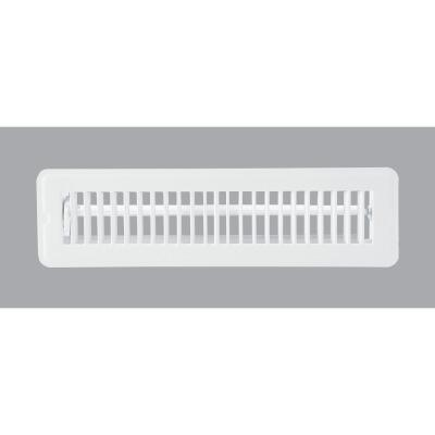 Home Impressions 2-1/4 In. x 12 In. White Steel Floor Register