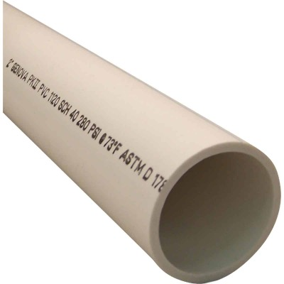 Charlotte Pipe 2 In. x 5 Ft. PVC-DWV Dual Rated Schedule 40 Pipe