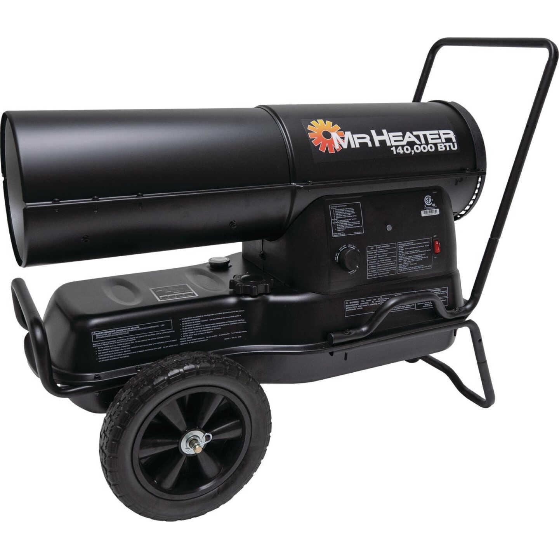 MR. HEATER 140,000 BTU Kerosene Forced Air Heater with Handles Image 1