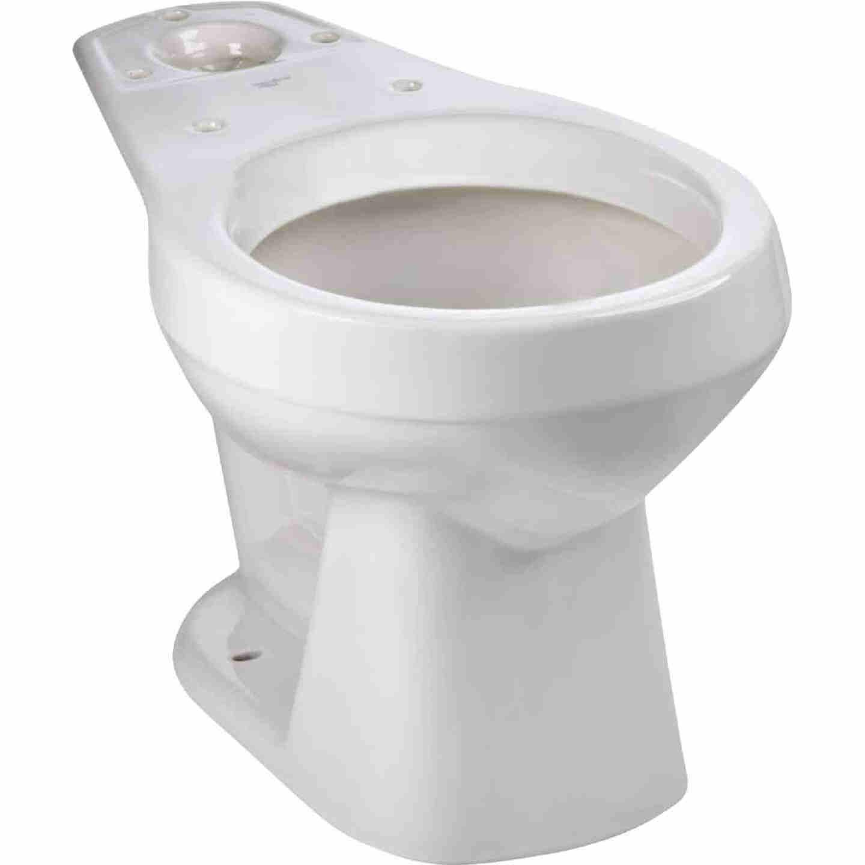 Mansfield Alto White Round 14-3/4 In. Toilet Bowl Image 1