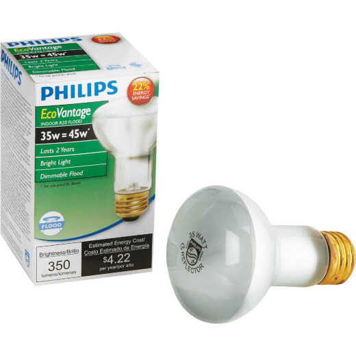 Philips EcoVantage 45W Equivalent Medium Base Clear R20 Halogen Floodlight Light Bulb