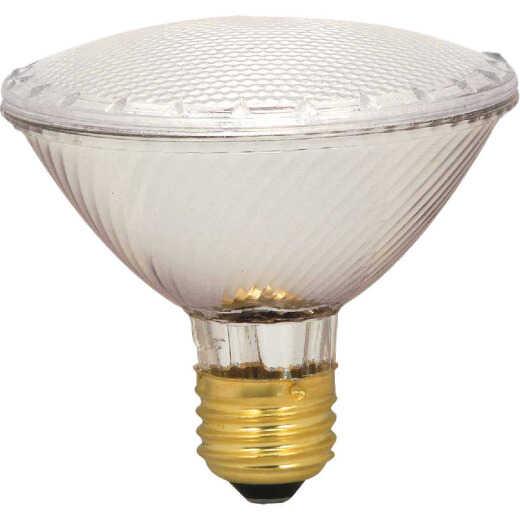 Satco 75W Equivalent Clear Medium Base PAR30S Short Neck Halogen Floodlight Light Bulb