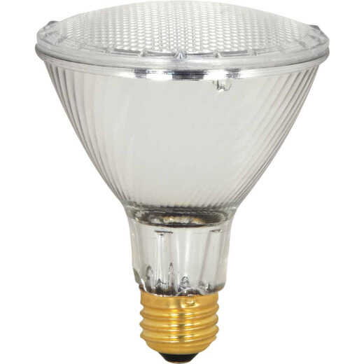 Satco 75W Equivalent Clear Medium Base PAR30L Long Neck Halogen Floodlight Light Bulb