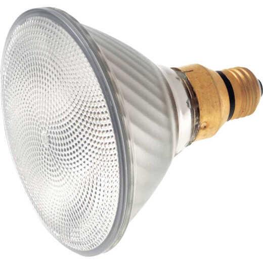 Satco 100W Equivalent Clear Medium Skirted Base PAR38 Halogen Floodlight Light Bulb