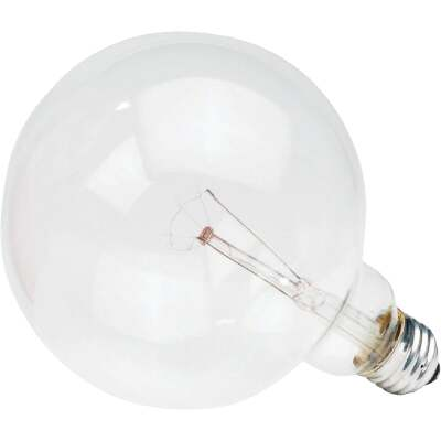 Philips DuraMax 60W Clear Soft White Medium Base G40 Incandescent Globe Light Bulb