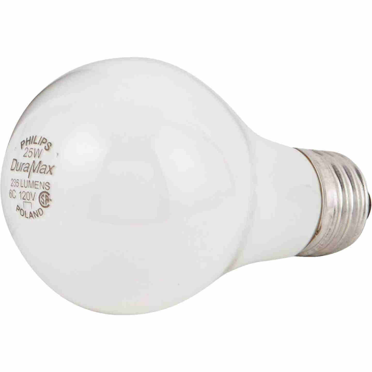 Philips Duramax 25W Frosted Soft White Medium Base A19 Incandescent Light Bulb (2-Pack) Image 3