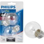 Philips DuraMax 40W Clear Medium G16.5 Incandescent Globe Light Bulb (2-Pack) Image 1