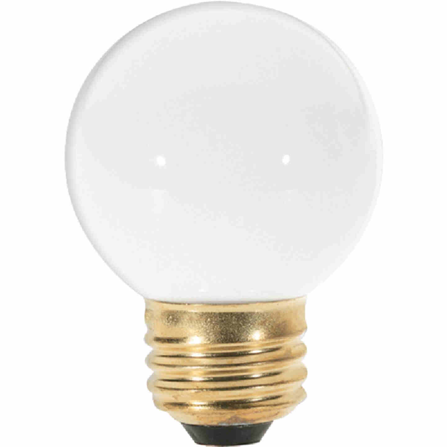 Satco 25W Frosted Medium G16.5 Incandescent Globe Light Bulb Image 1