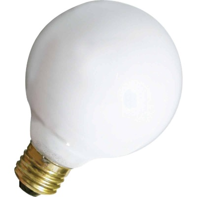 Satco 40W Frosted Soft White Medium Base G25 Incandescent Globe Light Bulb (3-Pack)