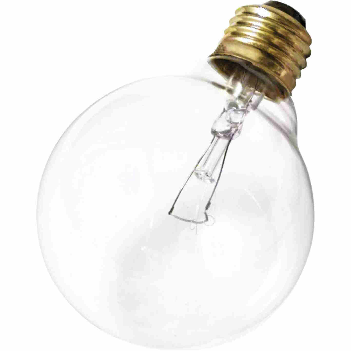 Satco 25W Clear Medium Base G25 Incandescent Globe Light Bulb  Image 1